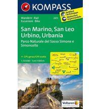 Wanderkarten Apennin Kompass-Karte 2455, San Marino, San Leo, Urbino, Urbania 1:50.000 Kompass-Karten GmbH