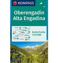 Wanderkarten Schweiz & FL Kompass-Karte 99, Oberengadin 1:40.000 Kompass-Karten GmbH