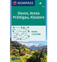 Wanderkarten Schweiz & FL Kompass-Karte 113, Davos, Arosa, Prättigau, Klosters 1:40.000 Kompass-Karten GmbH