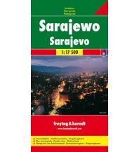 f&b Stadtpläne Sarajewo, Stadtplan 1:17.500 Freytag-Berndt und ARTARIA