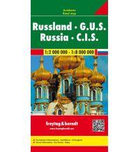 f&b Straßenkarten Russland - G.U.S., Autokarte 1:2 - 1:8 Mio. Freytag-Berndt und ARTARIA