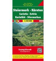 f&b Straßenkarten freytag & berndt Auto + Freizeitkarte, Steiermark - Kärnten 1:250.000 Freytag-Berndt und ARTARIA