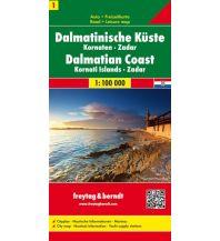 f&b Straßenkarten freytag & berndt Auto + Freizeitkarte Dalmatinische Küste Blatt 1, Kornaten - Zadar 1:100.000 Freytag-Berndt und ARTARIA