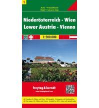 f&b Straßenkarten freytag & berndt Auto + Freizeitkarte Niederösterreich - Wien 1:200.000 Freytag-Berndt und ARTARIA