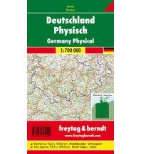 f&b Poster und Wandkarten Wandkarte: Deutschland physisch Metallbestäbt 1:700.000 Freytag-Berndt u. Artaria KG Planokarten