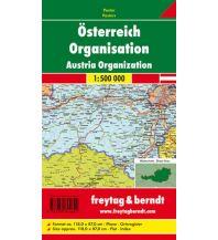 Österreich Wandkarte: Österreich Organisation politisch 1:500.000, Poster Freytag-Berndt u. Artaria KG Planokarten