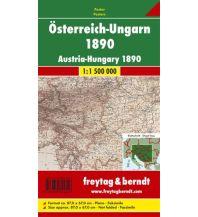 Österreich Österreich-Ungarn 1890, Faksimile, Poster 1:1,5 Mio Freytag-Berndt u. Artaria KG Planokarten