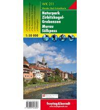 f&b Wanderkarten WK 211 Naturpark Zirbitzkogel-Grebenzen - Murau - Sölkpass, Wanderkarte 1:50.000 Freytag-Berndt und ARTARIA