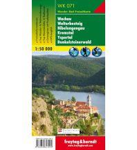 f&b Wanderkarten WK 071 Wachau - Welterbesteig - Nibelungengau - Kremstal - Yspertal - Dunkelsteinerwald, Wanderkarte 1:50.000 Freytag-Berndt und ARTARIA