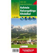 f&b Wanderkarten WK 301 Kufstein - Kaisergebirge - Kitzbühel, Wanderkarte 1:50.000 Freytag-Berndt und ARTARIA