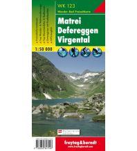 f&b Wanderkarten WK 123 Matrei - Defereggen - Virgental, Wanderkarte 1:50.000 Freytag-Berndt und ARTARIA