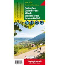 f&b Wanderkarten WK 224 Faaker See - Ossiacher See - Villach - Dreiländereck - Unteres Gailtal, Wanderkarte 1:50.000 Freytag-Berndt und ARTARIA