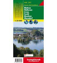 f&b Wanderkarten WK 391 Mattsee - Wallersee - Irrsee - Fuschl - Mondsee - Oberndorf, Wanderkarte 1:50.000 Freytag-Berndt und ARTARIA