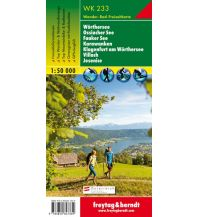 f&b Wanderkarten WK 233 Wörthersee - Ossiacher See - Faaker See - Karawanken - Klagenfurt am Wörthersee - Villach - Jesenice, Wanderkarte 1:50.000 Freytag-Berndt und ARTARIA