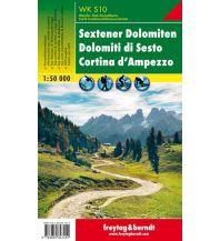 f&b Wanderkarten WK S10 Sextener Dolomiten/Dolomiti di Sesto, Cortina d'Ampezzo, Wanderkarte 1:50.000 Freytag-Berndt und ARTARIA