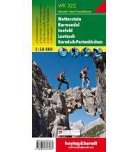 f&b Wanderkarten WK 322 Wetterstein - Karwendel - Seefeld - Leutasch - Garmisch Partenkirchen, Wanderkarte 1:50.000 Freytag-Berndt und ARTARIA