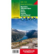 f&b Wanderkarten WK 152 Mayrhofen - Zillertaler Alpen - Gerlos - Krimml - Tuxertal - Zell im Zillertal, Wanderkarte 1:50.000 Freytag-Berndt und ARTARIA