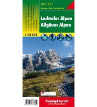 f&b Wanderkarten WK 351 Lechtaler Alpen - Allgäuer Alpen, Wanderkarte 1:50.000 Freytag-Berndt und ARTARIA