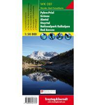 f&b Wanderkarten WK 081, Pyhrn-Priel-Eisenwurzen - Grünau - Almtal - Steyrtal - Nationalpark Kalkalpen - Bad Aussee, Wanderkarte 1:50.000 Freytag-Berndt und ARTARIA