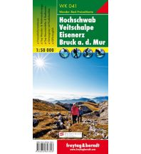 f&b Wanderkarten WK 041 Hochschwab - Veitschalpe - Eisenerz - Bruck an der Mur, Wanderkarte 1:50.000 Freytag-Berndt und ARTARIA