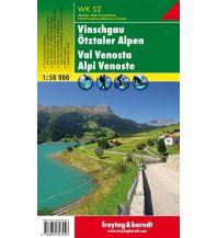 f&b Wanderkarten WK S2 Vinschgau - Ötztaler Alpen, Wanderkarte 1:50.000 Freytag-Berndt und ARTARIA