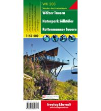 f&b Wanderkarten WK 203 Wölzer Tauern - Sölktal - Rottenmanner Tauern, Wanderkarte 1:50.000 Freytag-Berndt und ARTARIA