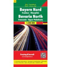 f&b Straßenkarten f&b Auto + Freizeitkarte 2, Bayern Nord & Mitte 1:200.000 Freytag-Berndt und ARTARIA