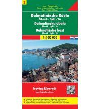 f&b Straßenkarten freytag & berndt Auto + FreizeitkartenDalmatinische Küste Blatt 2, Šibenik - Split - Vis 1:100.000 Freytag-Berndt und ARTARIA