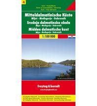 f&b Straßenkarten freytag& berndt Auto + Freizeitkarte Mitteldalmatinische Küste Blatt 4, Mljet - Medugorje - Dubrovnik 1:100.000 Freytag-Berndt und ARTARIA