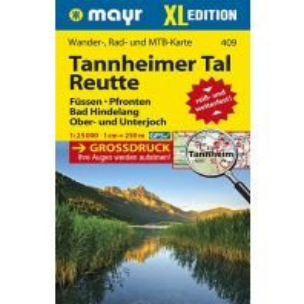 Wanderkarten Tirol Mayr-Wander-, Rad- und MTB-Karte 409, Tannheimer Tal, Reutte XL 1:25.000 Mayr Verlag