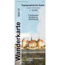 Topographische Karte Sachsen 34 - Friedewald, Radeburg, Moritzburg 1:25.000 Landesamtvermessungsamt Sachsen