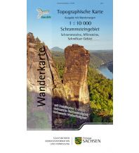 Topographische Wanderkarte Sachsen - Schrammsteingebiet 1:10.000 Landesamtvermessungsamt Sachsen