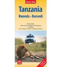 Straßenkarten Nelles Map Landkarte Tanzania - Rwanda - Burundi Nelles-Verlag