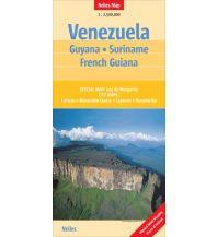 Straßenkarten Venezuela - Guyana - Suriname - French Guiana Nelles-Verlag