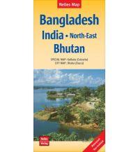 Straßenkarten Nelles Map Landkarte Bangladesh; India: North-East Nelles-Verlag