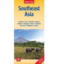Straßenkarten Asien Nelles Maps Southeast Asia, Polyart-Ausgabe Nelles-Verlag