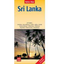 Straßenkarten Nelles Map Landkarte Sri Lanka Nelles-Verlag