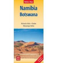 Straßenkarten Namibia Nelles Map Landkarte Namibia - Botswana Nelles-Verlag
