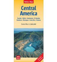 Straßenkarten Nelles Map Landkarte Central America | Mittelamerika Nelles-Verlag