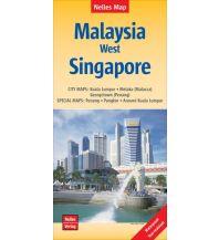 Straßenkarten Nelles Map Landkarte Malaysia: West, Singapore Nelles-Verlag