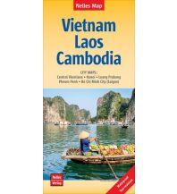 Straßenkarten Nelles Map Landkarte Vietnam - Laos - Cambodia Nelles-Verlag