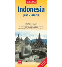 Straßenkarten Nelles Map Landkarte Indonesia :  Java, Jakarta Nelles-Verlag
