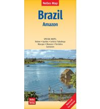 Straßenkarten Nelles Map Landkarte Brazil: Amazon Nelles-Verlag