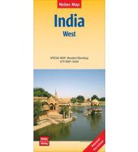 Straßenkarten Nelles Map Landkarte India: West Nelles-Verlag