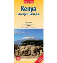 Nelles Map Landkarte Kenya - Serengeti (Tanzania) | Kenia - Serengeti (Tansania) | Kenya - Serengeti (Tanzanie) | Kenia - Serengueti (Tanzania) Nelles-Verlag