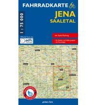 Fahrradkarte Jena - Saaletal grünes herz - verlag für tourismus Dr. Lutz Gebhardt