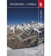 Wanderkarten Himalaya Trekking-Karte Shorong, Hinku 1:50.000 Arbeitsgemeinschaft für vergleichende Hochgebirgsforschung e.V.