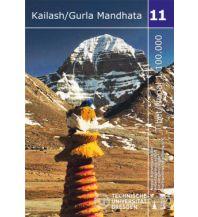 Wanderkarten Himalaya Trekking-Karte 11, Kailash, Gurla Mandhata 1:100.000 Arbeitsgemeinschaft für vergleichende Hochgebirgsforschung e.V.