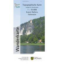 Topographische Wanderkarte Sachsen - Kurort Rathen, Hohnstein 1:10.000 Landesamtvermessungsamt Sachsen
