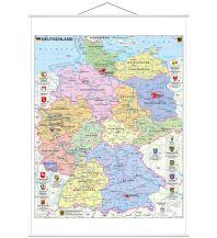 Poster und Wandkarten Stiefel Wandkarte Deutschland politisch mit Wappen Stiefel GmbH